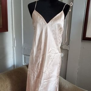 Victoria's Secret NWT Long Pink Chemise Gown